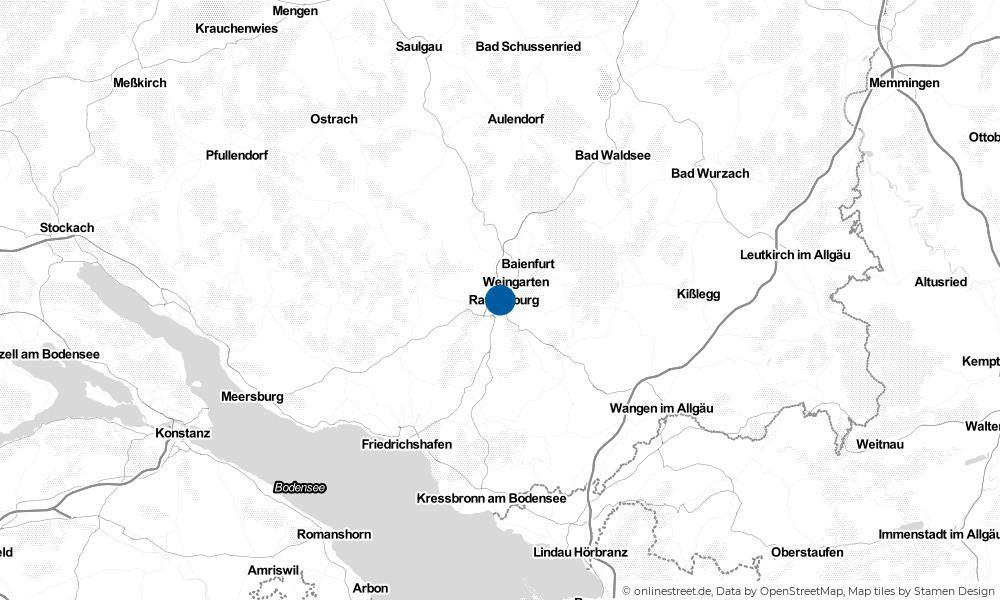 Karte: Wo liegt Ravensburg?