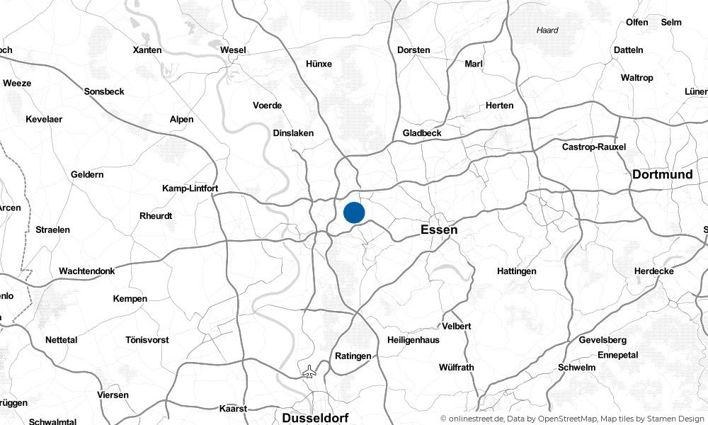 Karte: Wo liegt Oberhausen?