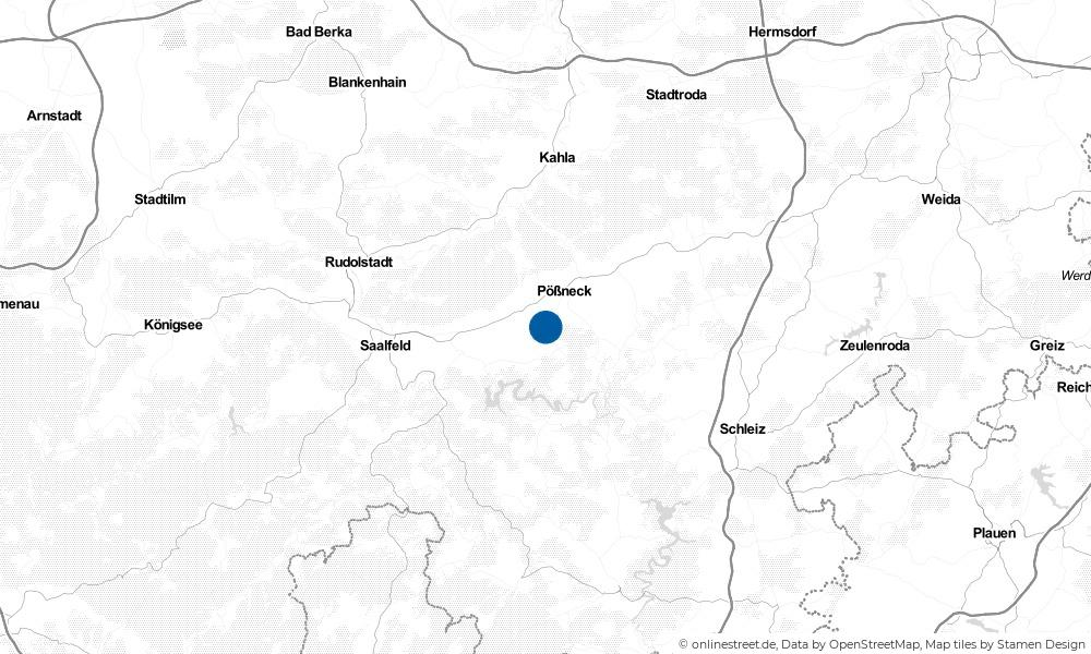 Karte: Wo liegt Ranis?