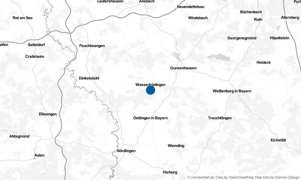Karte: Wo liegt Wassertrüdingen?