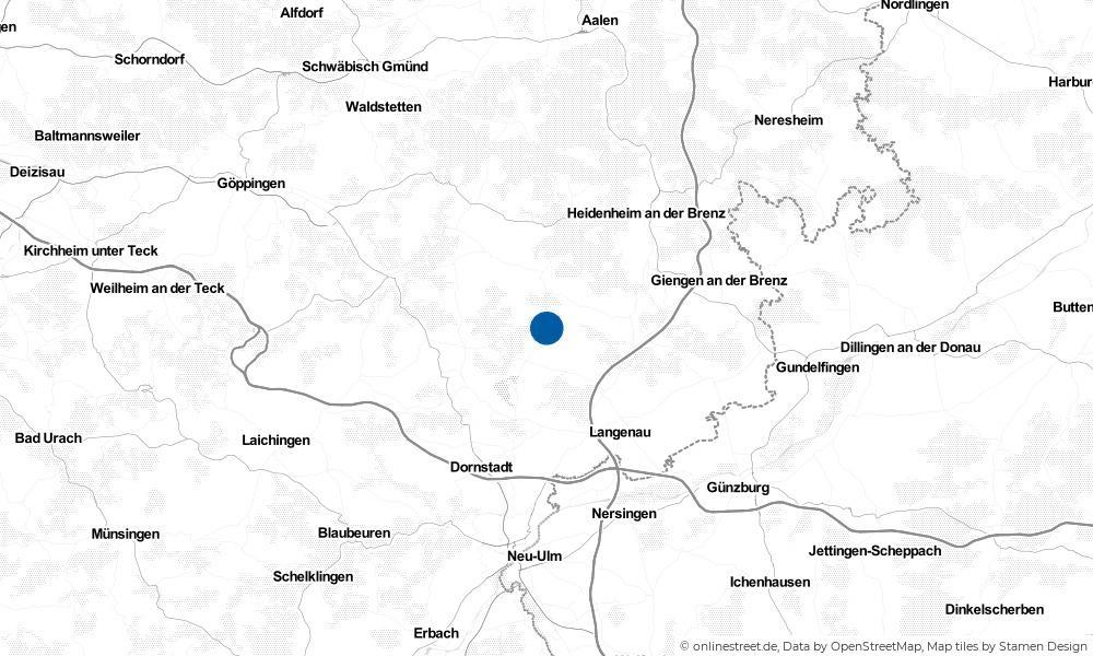 Karte: Wo liegt Altheim (Alb)?