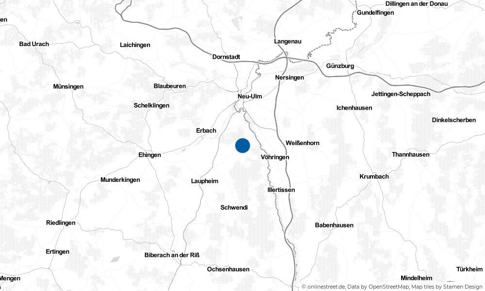 Karte: Wo liegt Staig?