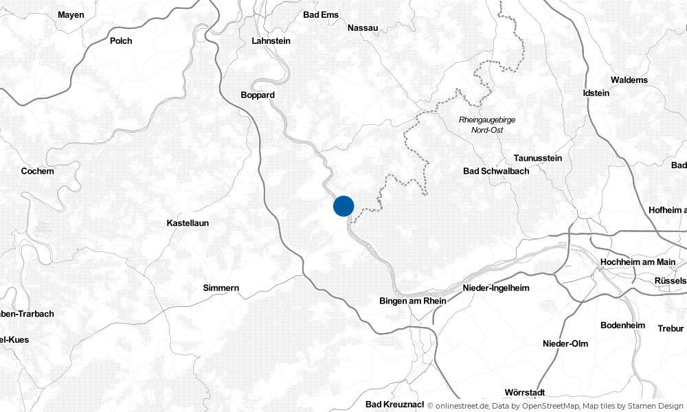 Karte: Wo liegt Kaub?