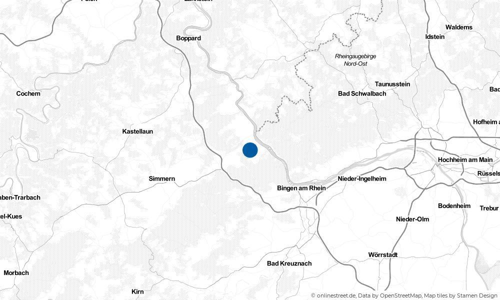 Karte: Wo liegt Manubach?