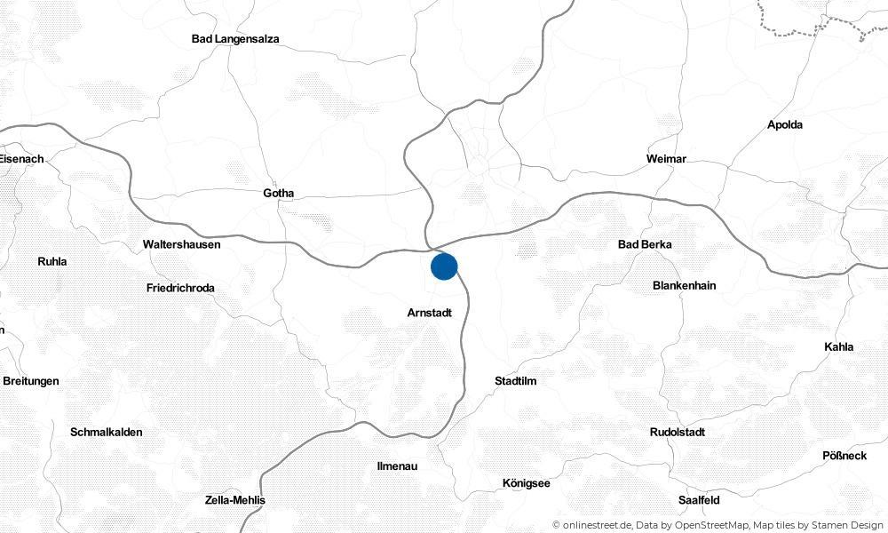 Karte: Wo liegt Ichtershausen?