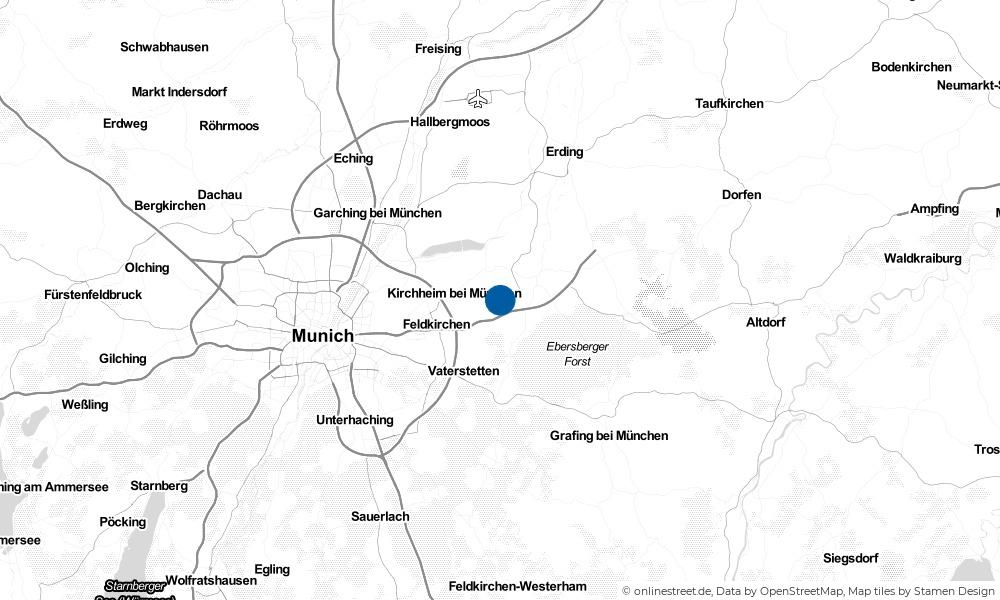 Karte: Wo liegt Poing?