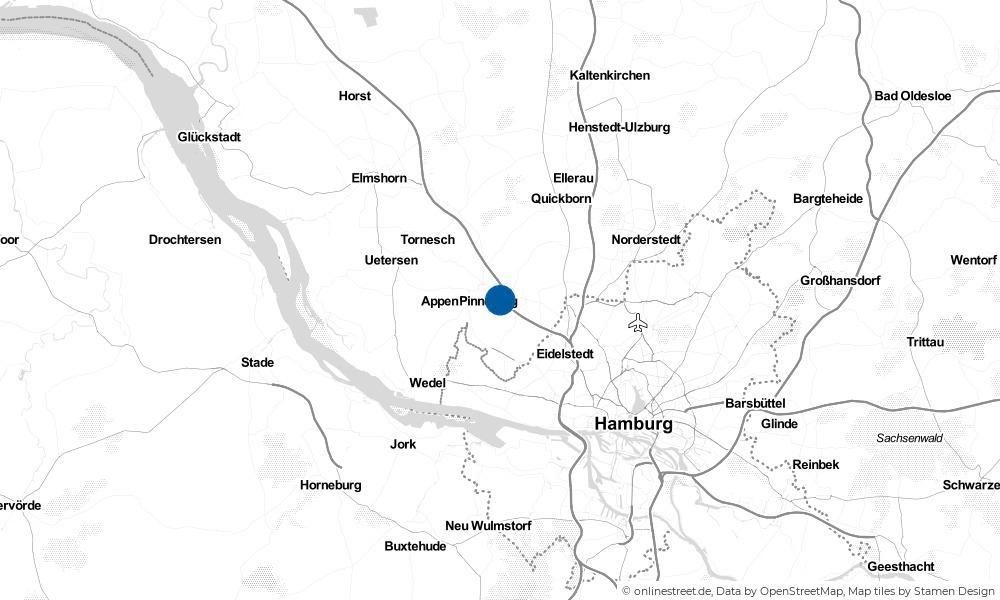 Karte: Wo liegt Rellingen?