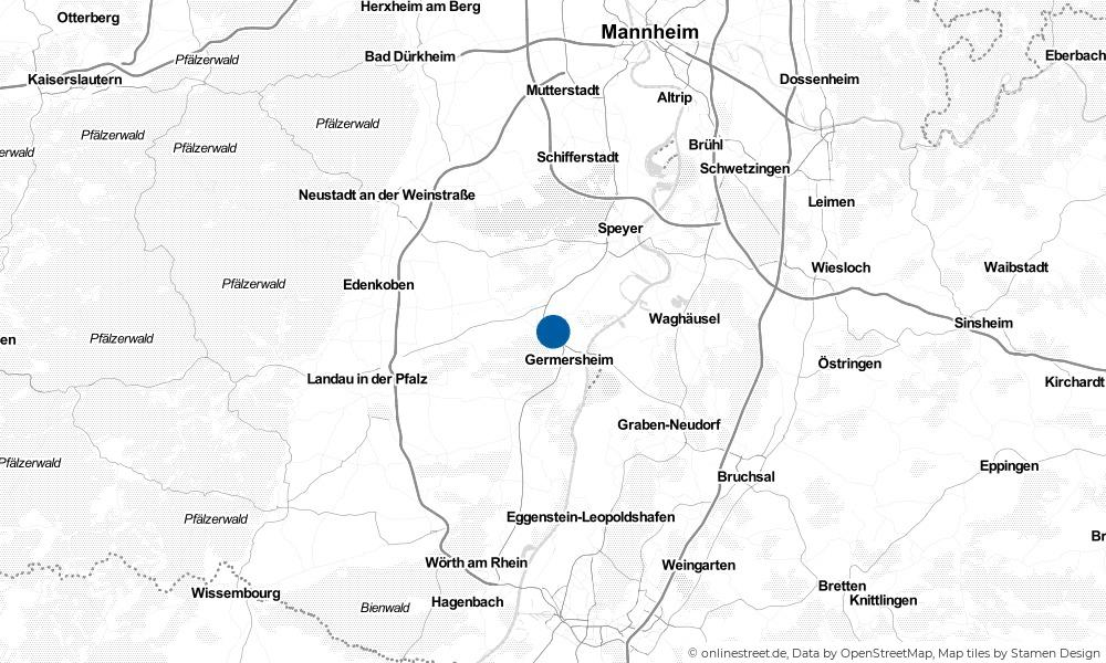 Karte: Wo liegt Lingenfeld?