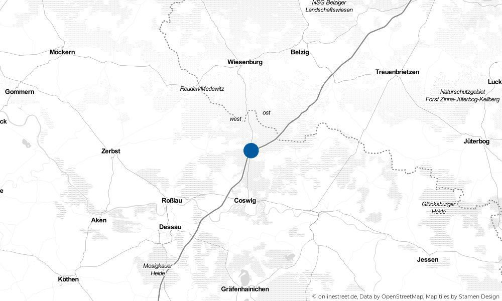 Karte: Wo liegt Köselitz?