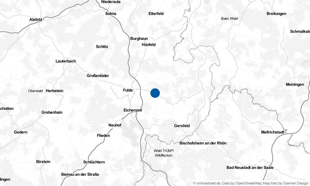 Karte: Wo liegt Dipperz?