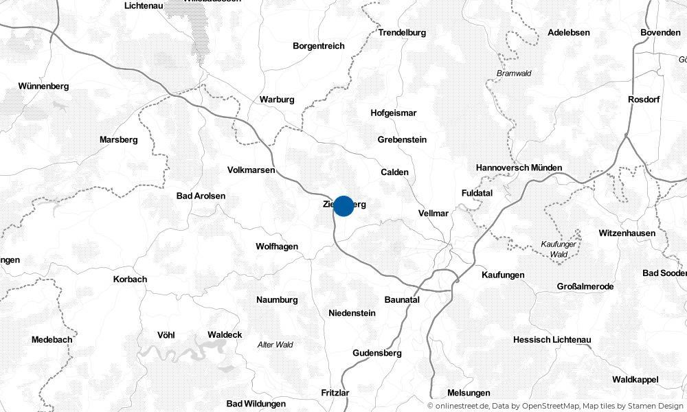 Karte: Wo liegt Zierenberg?
