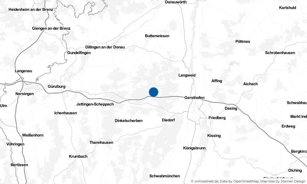 Karte: Wo liegt Bonstetten?