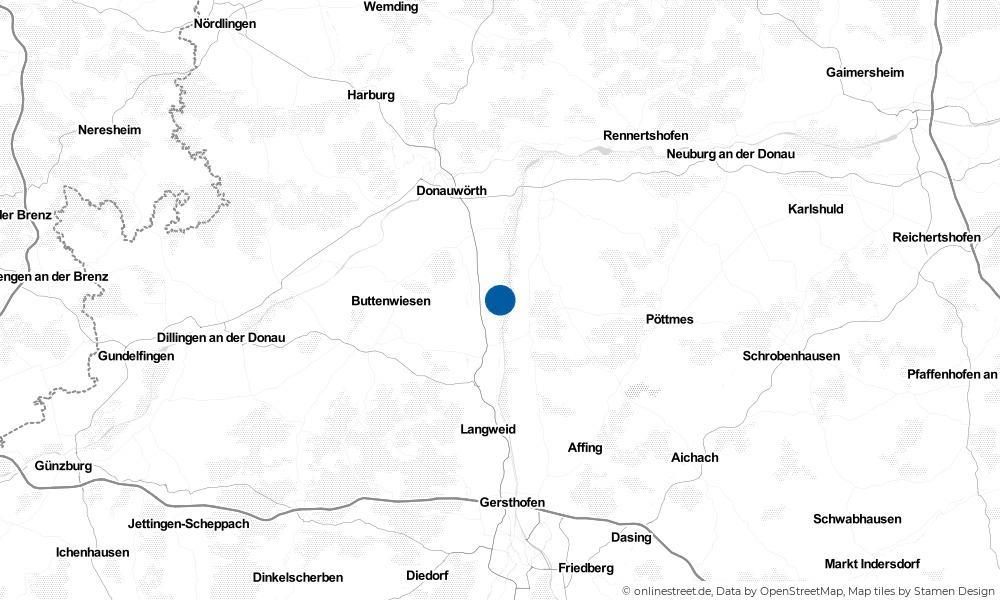 Karte: Wo liegt Ellgau?