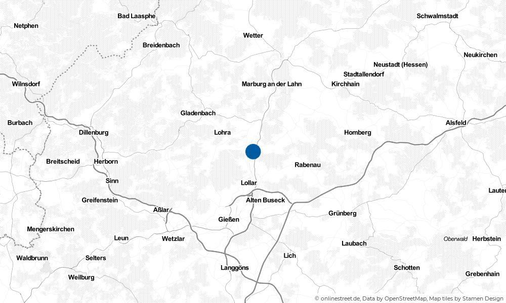 Karte: Wo liegt Fronhausen?