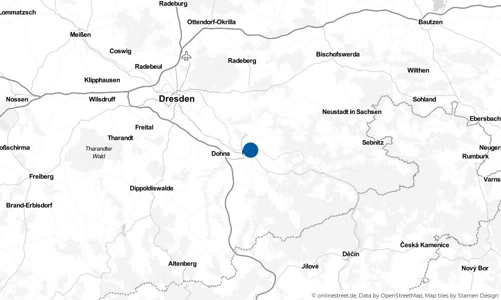 Karte: Wo liegt Pirna?