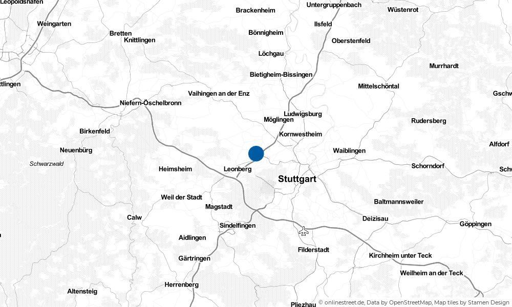 Karte: Wo liegt Ditzingen?