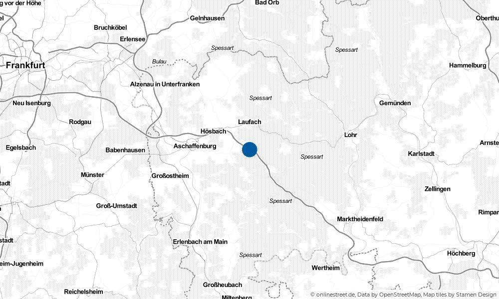 Karte: Wo liegt Waldaschaff?