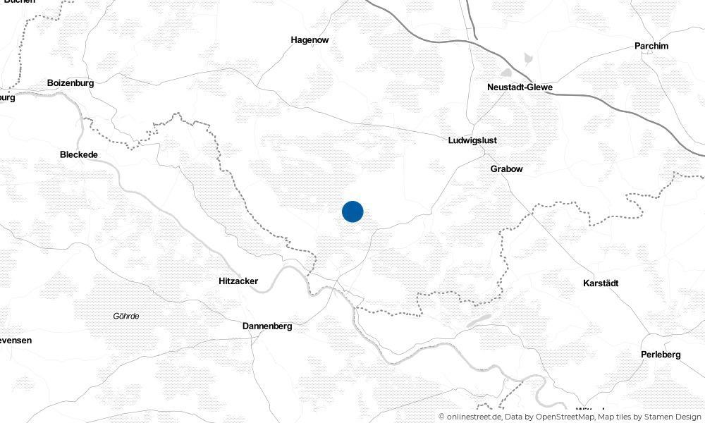 Karte: Wo liegt Niendorf an der Rögnitz?