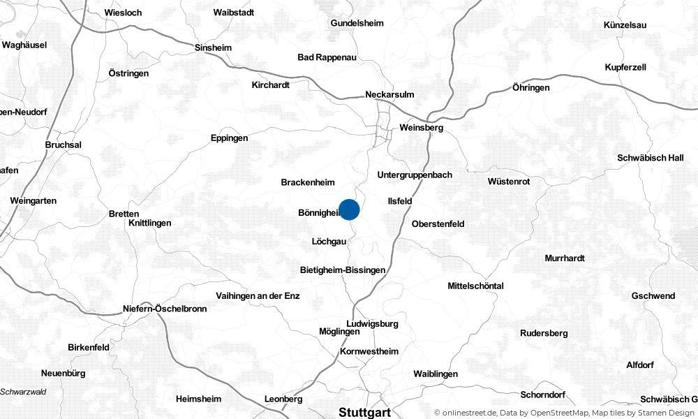 Karte: Wo liegt Kirchheim am Neckar?