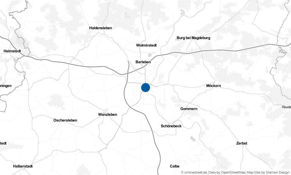 Karte: Wo liegt Magdeburg?