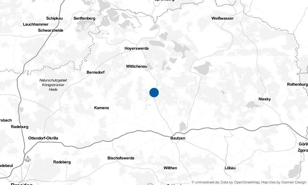 Karte: Wo liegt Königswartha?
