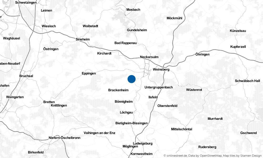 Karte: Wo liegt Nordheim?