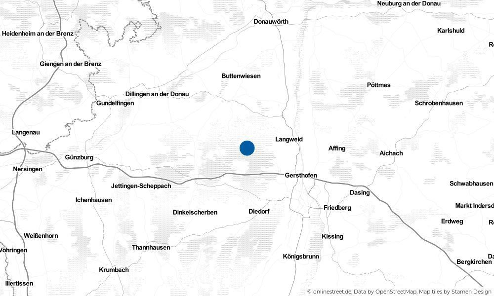 Karte: Wo liegt Heretsried?