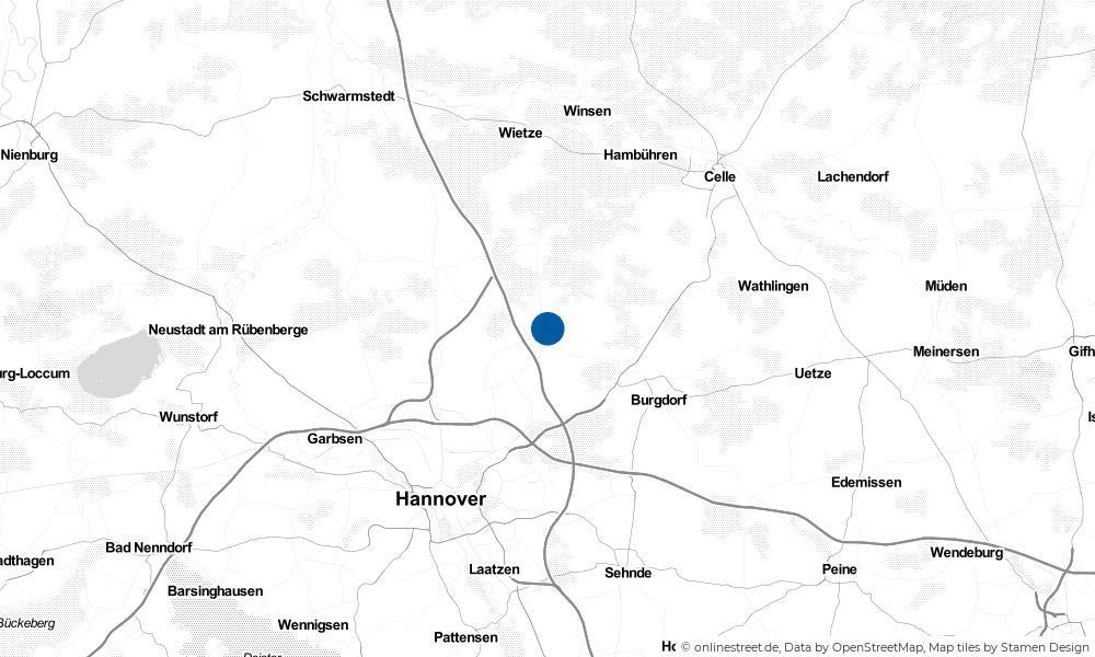 Karte: Wo liegt Burgwedel?