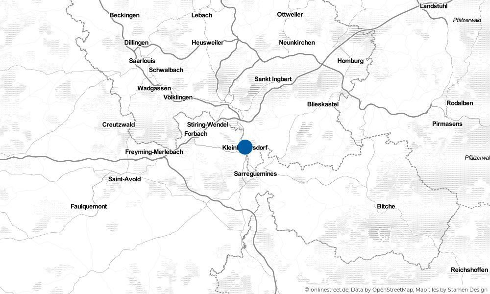Karte: Wo liegt Kleinblittersdorf?