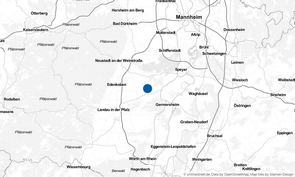 Karte: Wo liegt Freisbach?