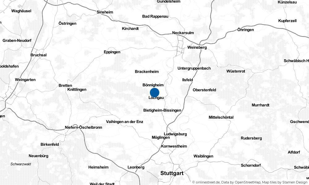 Karte: Wo liegt Erligheim?