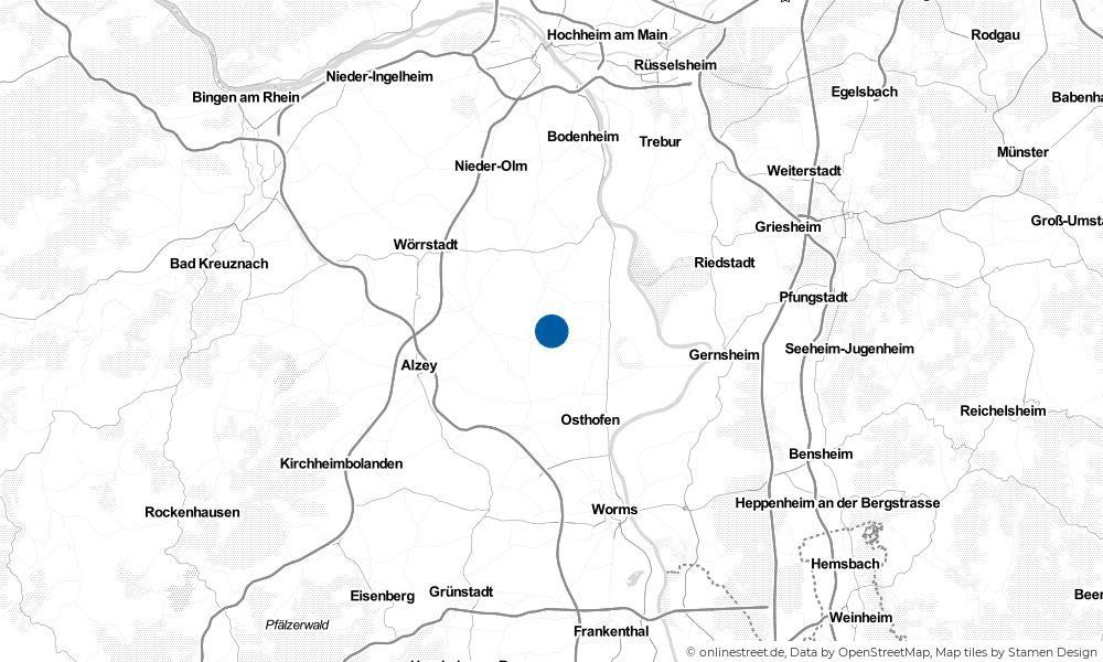 Karte: Wo liegt Wintersheim?