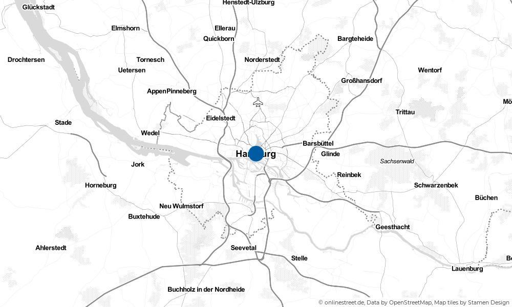 Karte: Wo liegt Hamburg?
