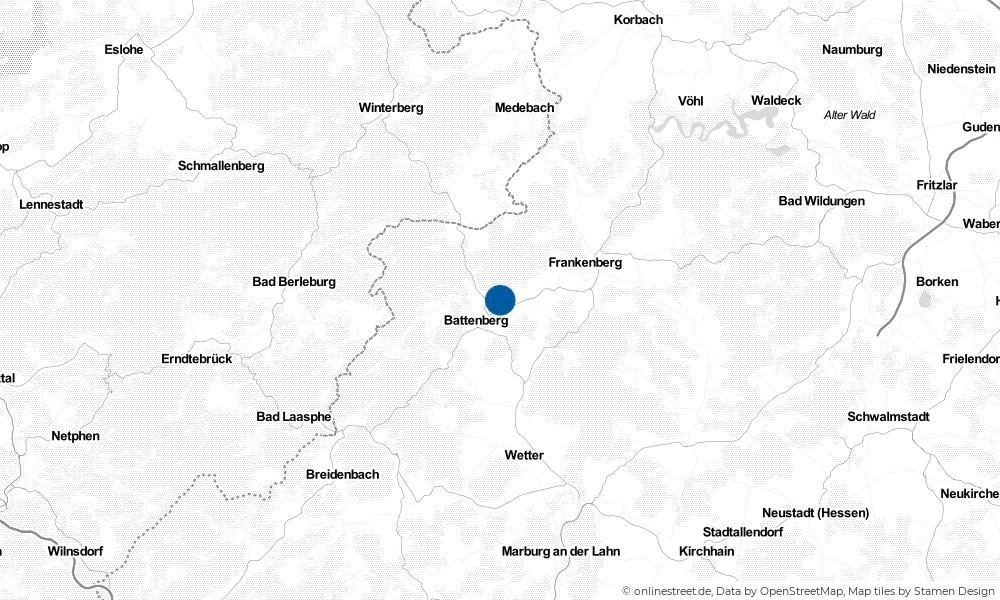 Karte: Wo liegt Allendorf (Eder)?