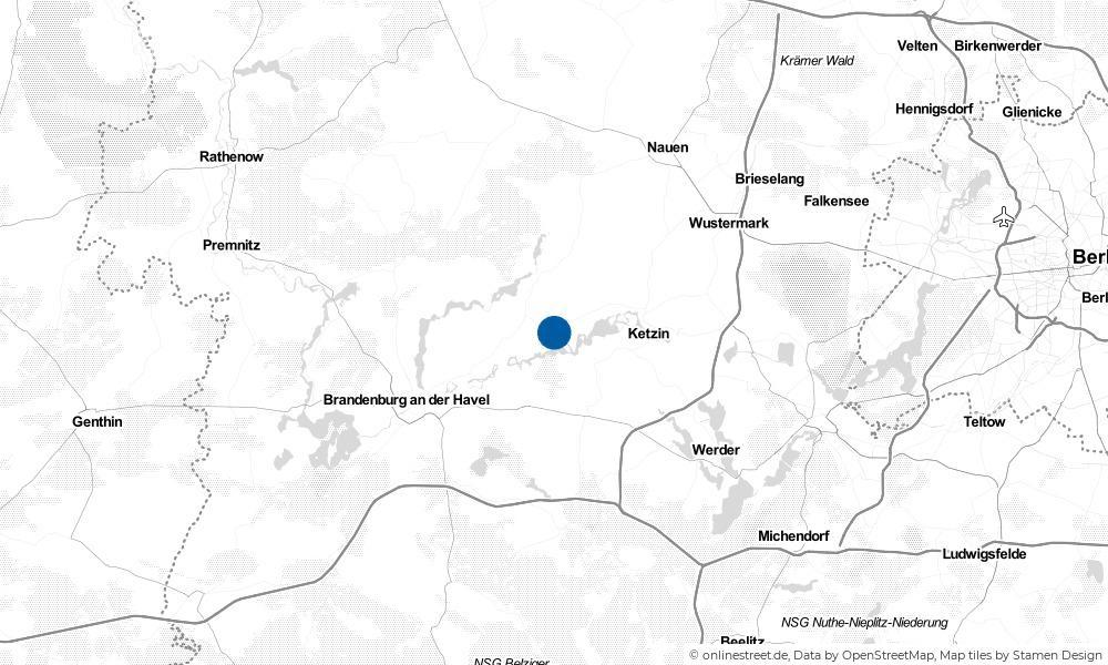 Karte: Wo liegt Roskow?