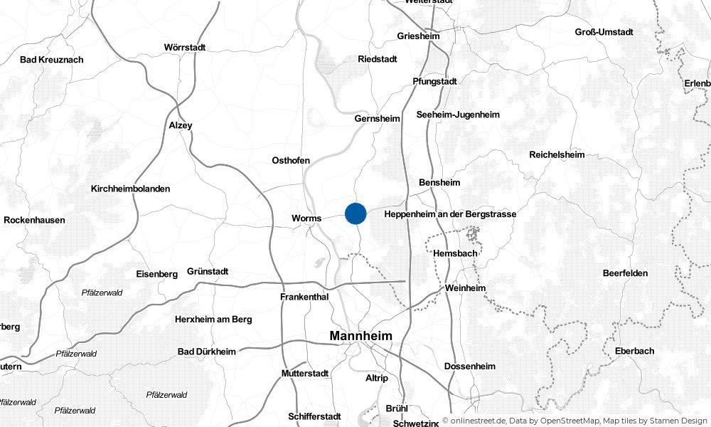 Karte: Wo liegt Bürstadt?