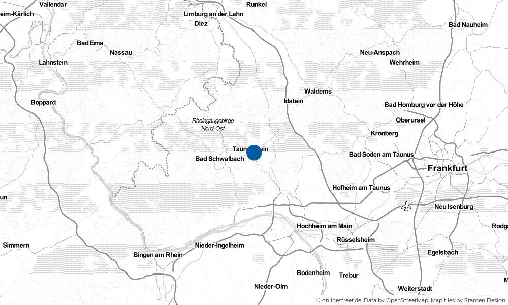 Karte: Wo liegt Taunusstein?
