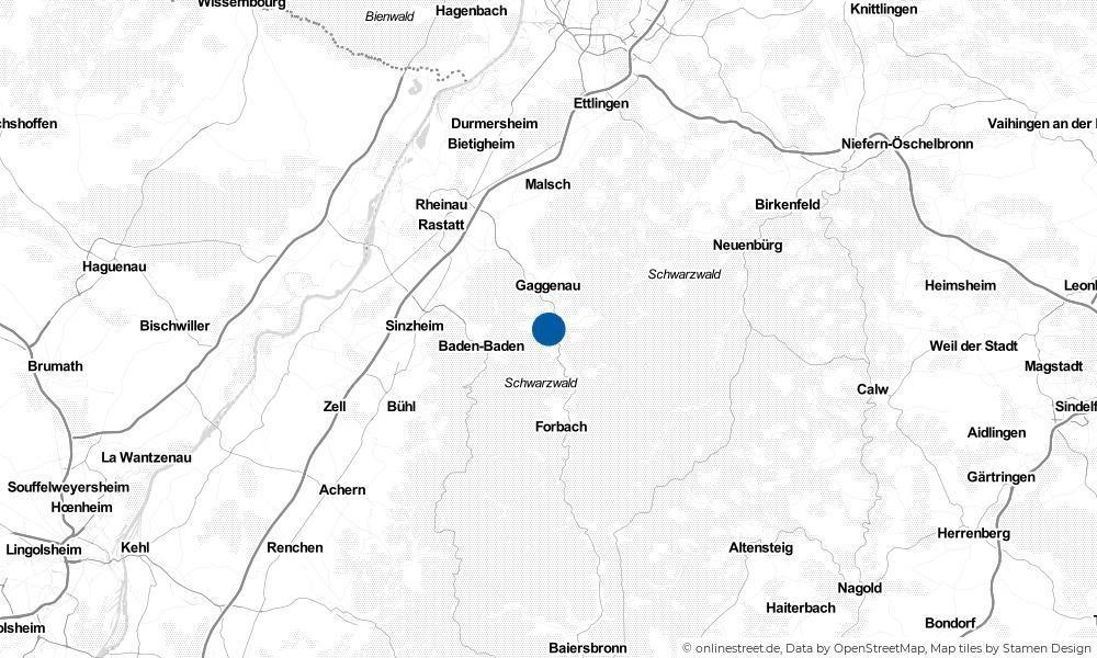Karte: Wo liegt Gernsbach?