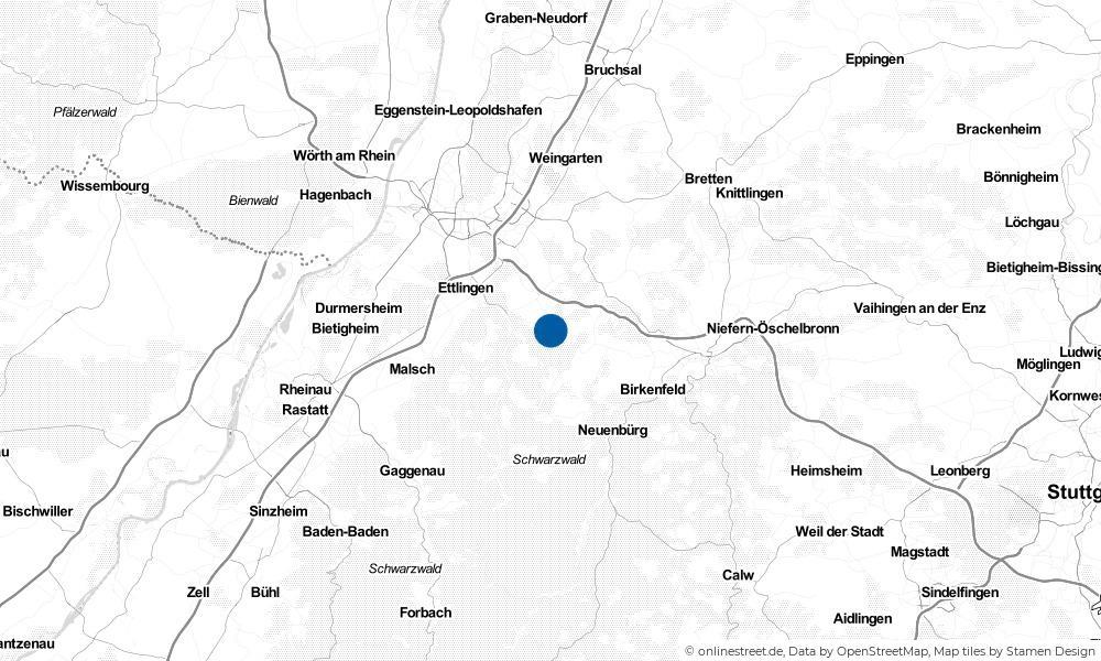 Karte: Wo liegt Karlsbad?