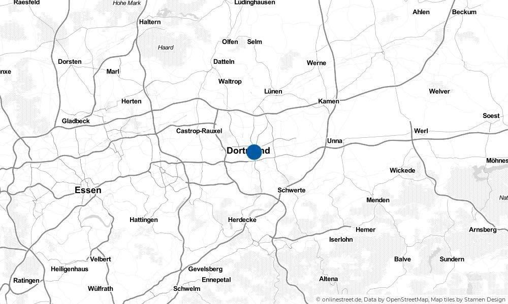 Karte: Wo liegt Dortmund?
