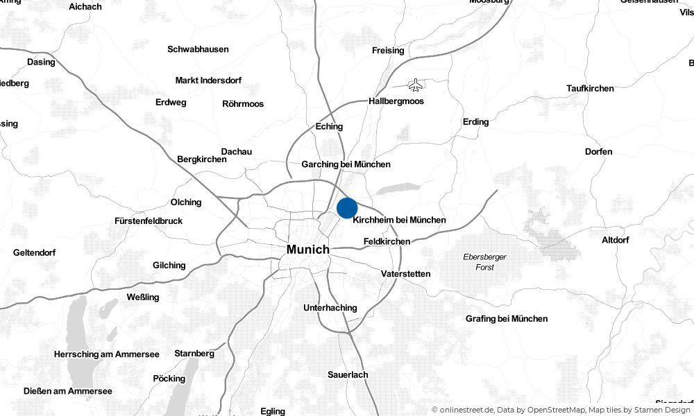 Karte: Wo liegt Unterföhring?