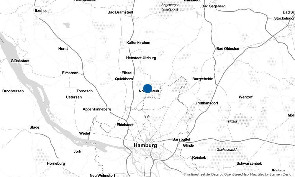 Karte: Wo liegt Norderstedt?