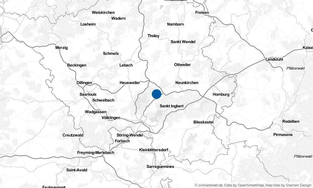 Karte: Wo liegt Quierschied?