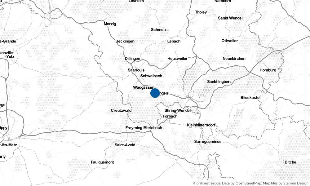 Karte: Wo liegt Völklingen?