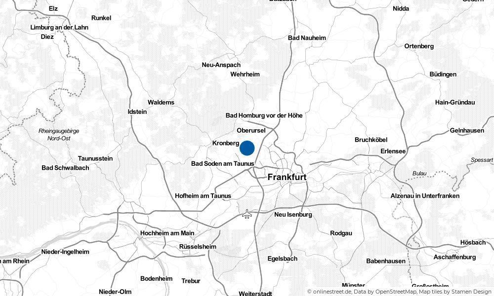 Karte: Wo liegt Steinbach (Taunus)?