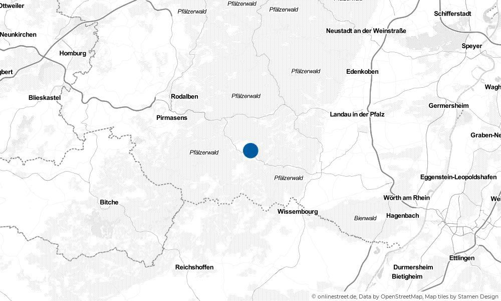 Karte: Wo liegt Schindhard?