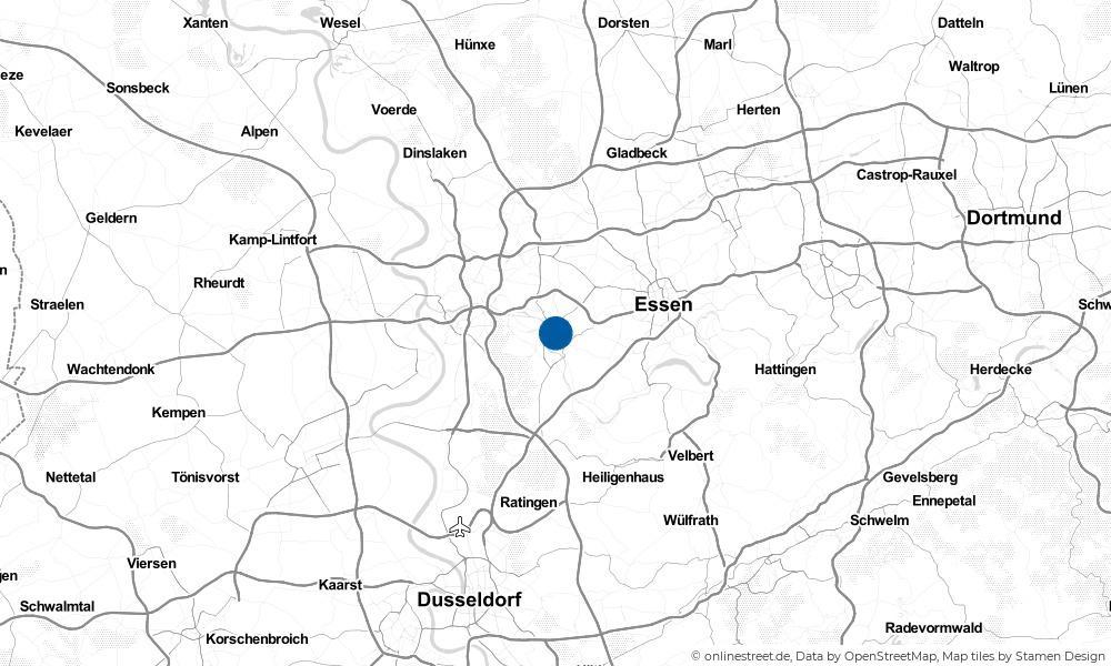 Karte: Wo liegt Mülheim an der Ruhr?