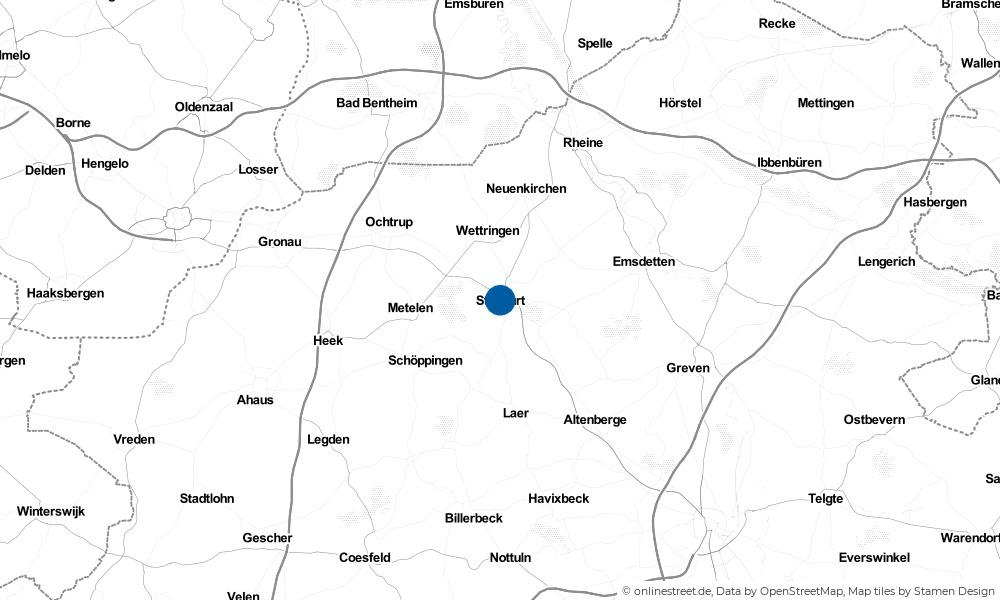 Karte: Wo liegt Steinfurt?