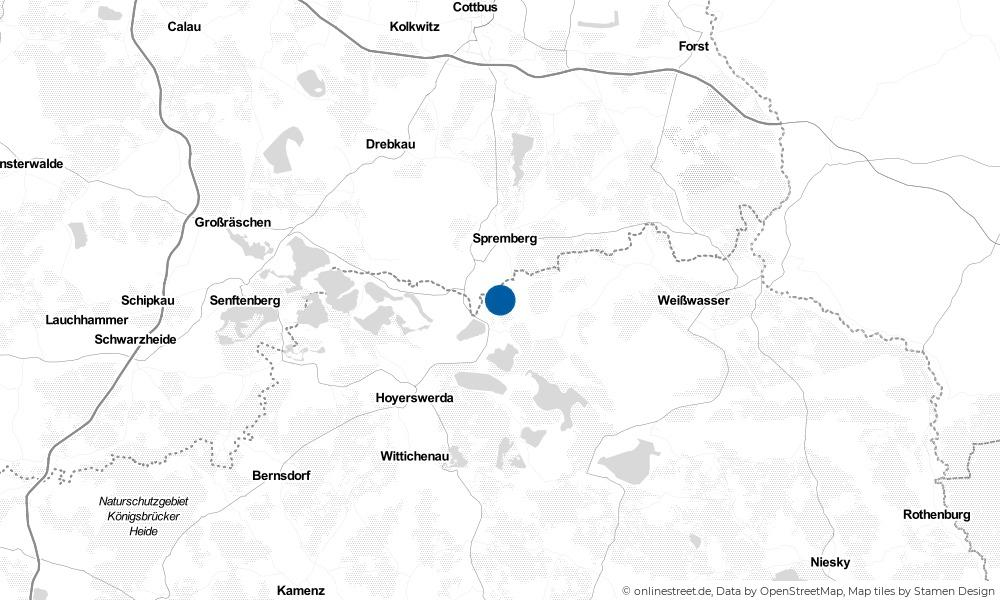 Karte: Wo liegt Spreetal?