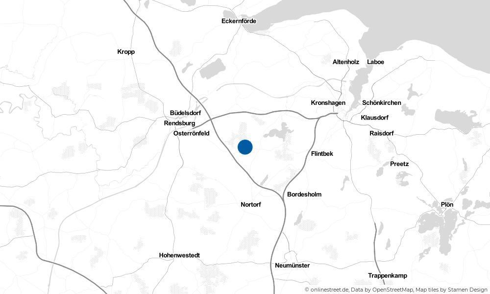 Karte: Wo liegt Emkendorf?